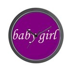 Baby Girl (pink & purple) Wall Clock