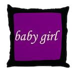 Baby Girl (pink & purple) Throw Pillow