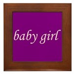 Baby Girl (pink & purple) Framed Tile
