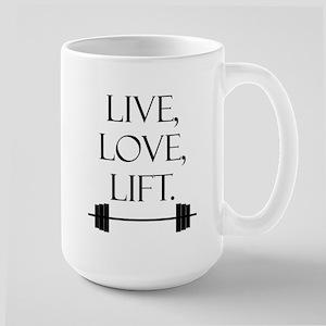 Live, Love, Lift Large Mug