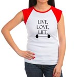Live, Love, Lift Women's Cap Sleeve T-Shirt