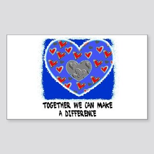 TOGETHER MAKE A DIFFERENCE Rectangle Sticker