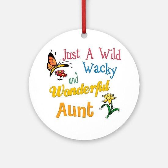wonderful aunt Round Ornament