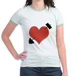 Heart Broken Jr. Ringer T-Shirt