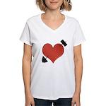 Heart Broken Women's V-Neck T-Shirt