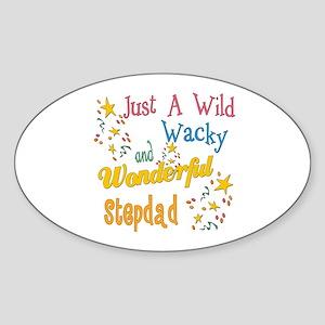Wild Wacky Stepdad Oval Sticker