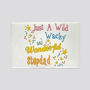 Wild Wacky Stepdad Rectangle Magnet