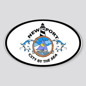 Newport, RI Oval Sticker