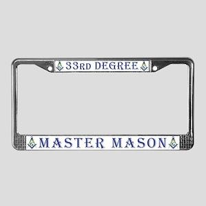 33rd Degree Master Masons License Plate Frame