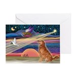 XmasStar/Golden Retriever Greeting Card