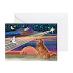 XmasStar/Golden Retriever Greeting Cards Pk of 10