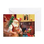Santa's Golden (#3) Greeting Card