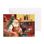 Santa's Golden (#3) Greeting Cards (Pk of 20)