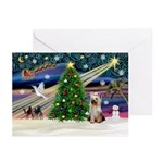 Xmas Magic / Yorkie (#2) Greeting Cards (Pk of 20)