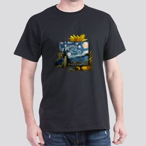 Van Gogh Starry Night Dark T-Shirt