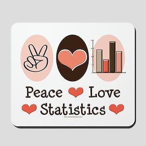 Peace Love Statistics Statistician Mousepad
