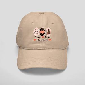 Peace Love Statistics Statistician Cap
