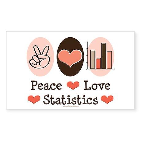 Peace Love Statistics Rectangle Sticker