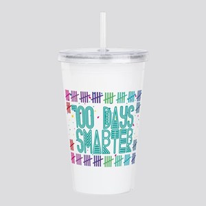 100 Days Smarter Count Acrylic Double-wall Tumbler