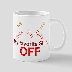 Shift OFF Mugs
