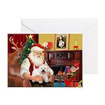 Santa's Westie Greeting Card