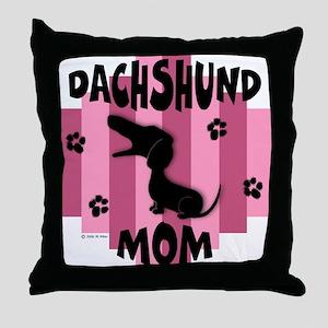 Dachshund Mom Throw Pillow