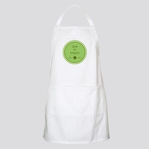 due in march t-shirt BBQ Apron