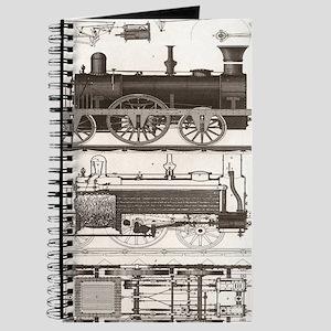 mechanical engineer steampunk train Journal
