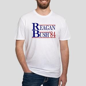 Reagan Bush 1984 Fitted T-Shirt
