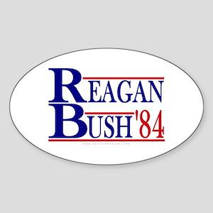 Reagan Bush 1984 Oval Sticker