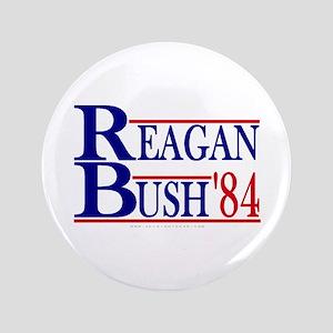 """Reagan Bush 1984 3.5"""" Button"""