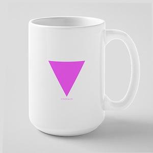 Pink Triangle Large Mug
