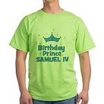1st Birthday Prince Samuel IV Green T-Shirt