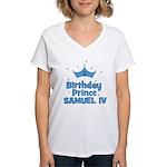 1st Birthday Prince Samuel IV Women's V-Neck T-Shi