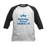 1st Birthday Prince Samuel IV Kids Baseball Jersey
