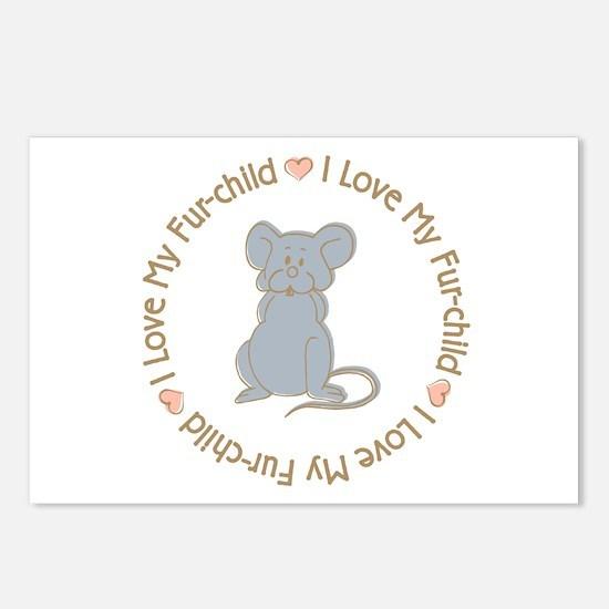 I Love my Rat Fur-children Postcards (Package of 8