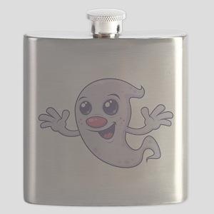 Cute Retro Ghost Flask