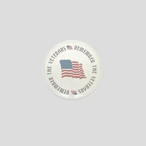 Remember the Veterans Mini Button