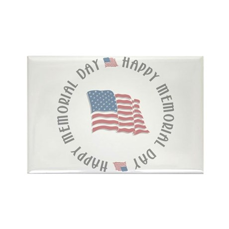 Happy Memorial Day Rectangle Magnet (100 pack)