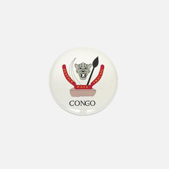 Congo Coat of Arms Mini Button