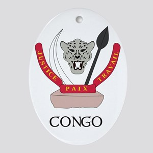 Congo Coat of Arms Oval Ornament