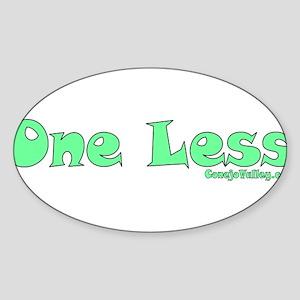 Green Oval Sticker