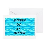 Divers Do It Deeper Greeting Cards (Pk of 10)