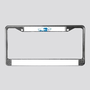 blue tsunami, blue wave, vote License Plate Frame