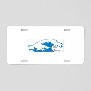 blue tsunami, blue wave, vote Aluminum License Pla