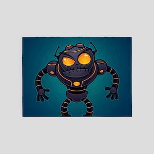 Angry Robot 5'x7'Area Rug