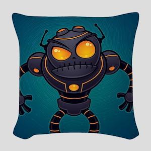 Angry Robot Woven Throw Pillow