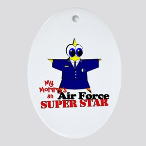 Air Force Mommy Oval Ornament