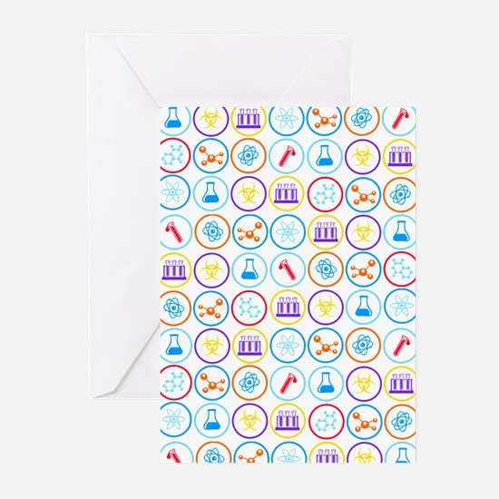 Pattern Of Science Greeting Cards