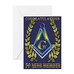 Masonic 50 year congratulations Greeting Card